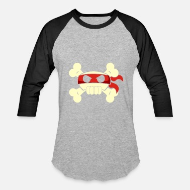 Pirate Ninja Ninja Pirate Jolly Roger - Baseball T-Shirt