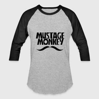 Mustage Monkey - Baseball T-Shirt