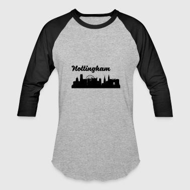 Nottingham Nottingham Skyline - Baseball T-Shirt