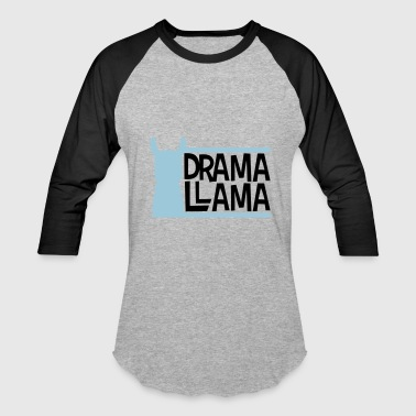 blue bars text logo drama llama party cool celebra - Baseball T-Shirt