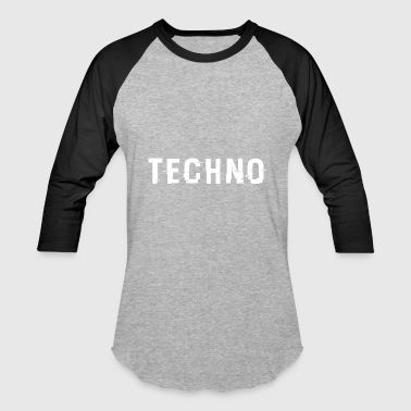 Techno Techo Hacked White - Baseball T-Shirt