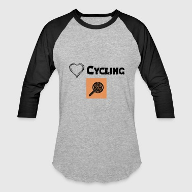 Kilometer We Love Cycling - Baseball T-Shirt