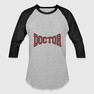 text doctor listening heartbeat pulse doctored nur - Baseball T-Shirt