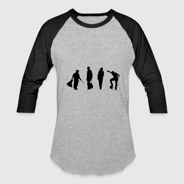 Urban people silhouette - Baseball T-Shirt