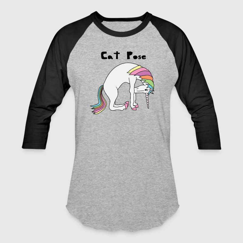 Yoga Unicorn Cat Pose - Baseball T-Shirt
