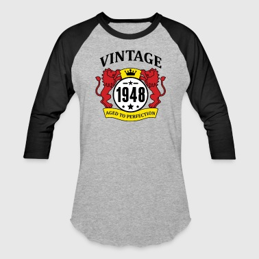 Vintage 1948 Aged to Perfection - Baseball T-Shirt