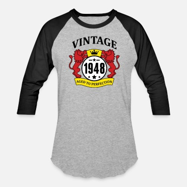 Age Vintage 1948 Aged to Perfection - Baseball T-Shirt
