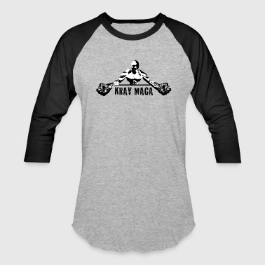 Krav Maga Fists (black and white) - Baseball T-Shirt