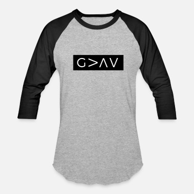 Greater God Is Greater Than The Highs And Lows - Baseball T-Shirt
