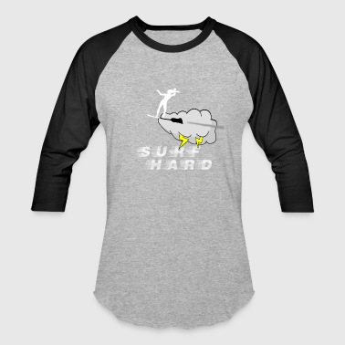 Lady Lightning Surf Hard - Baseball T-Shirt