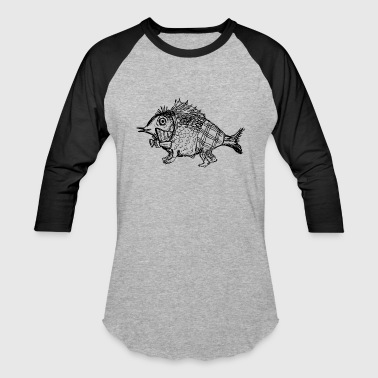 Walking Fish - Baseball T-Shirt