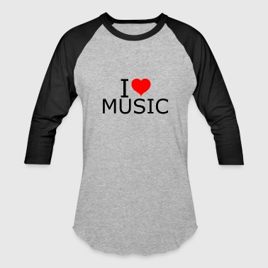 I Love Music Vibe I love / heart music - Baseball T-Shirt
