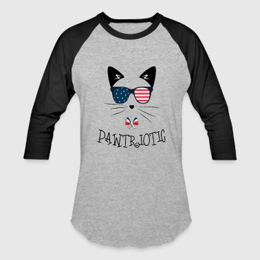 Pawtriotic, Fourth of July, Veteran's Day, Memorial Day - Baseball T-Shirt