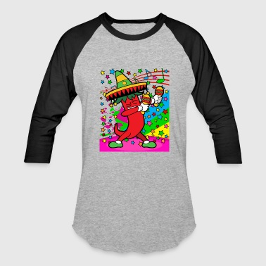Disco Party Music Dabbing Dab Chili Pepper Mexico - Baseball T-Shirt