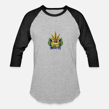 Marijuana Art Kush Awesome Abstract Art Marijuana Weed - Baseball T-Shirt