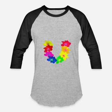 Flower Day Celebration Lei Day Flower Shirt Hula Girl Hawaii hibiscus Pal - Baseball T-Shirt