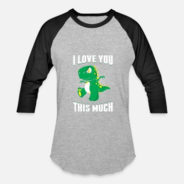 I-love-you-this-much-t-rex I Love You This Much T-Rex Love Valentine's Day - Baseball T-Shirt