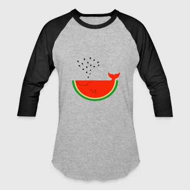 Watermelon Whale - Baseball T-Shirt