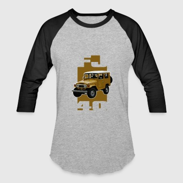 Ih8mud Yellow FJ40 Stripe - Baseball T-Shirt