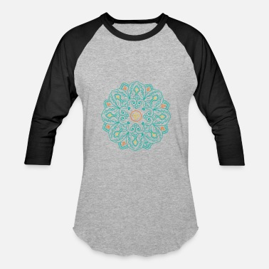 Tranquility Buddhism Flower Lotus Mandala Circle - Unisex Baseball T-Shirt