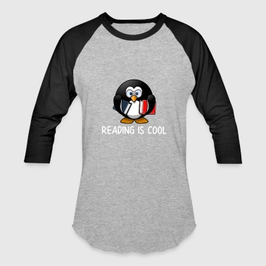 Book Worm Reading is Cool - Baseball T-Shirt