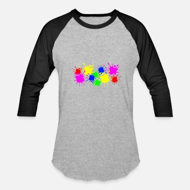 Color Splashes of color splashes of color color color du - Baseball T-Shirt