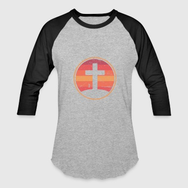 Retro Christian Cross Of Jesus - Baseball T-Shirt