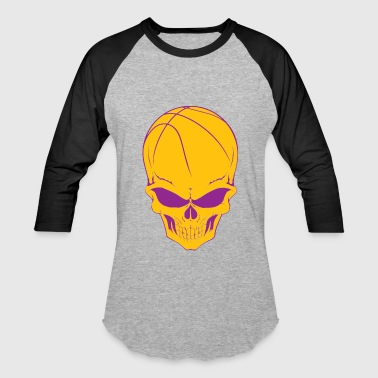 Basketball Skull - Baseball T-Shirt