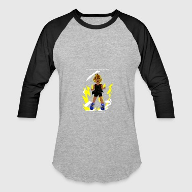 Anger Gym I turn Super Saiyan when I'm angry! - Baseball T-Shirt