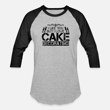 Decorated Cakes For Cake Decorator - Baseball T-Shirt