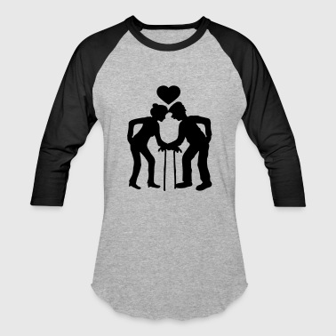 heart man grandfather grandfather couple love in l - Baseball T-Shirt