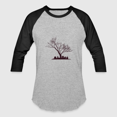 Haunted Tree Haunted Tree & Grave | Halloween - Baseball T-Shirt