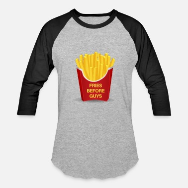 Funny Nom Nom Nom Meme Fries Before Guys 2 - Baseball T-Shirt