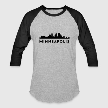 Minneapolis Silhouette Minneapolis skyline silhouette - Baseball T-Shirt