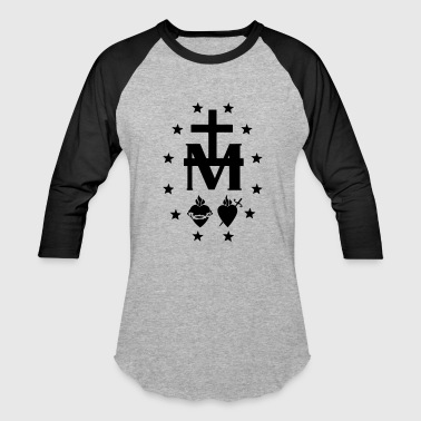 MIRACULOUS MEDAL SYMBOL WITH STARS - Baseball T-Shirt