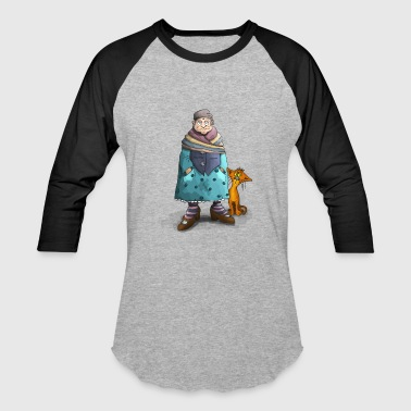 Pussy Grandma To Be Grandma with her Cat - Baseball T-Shirt