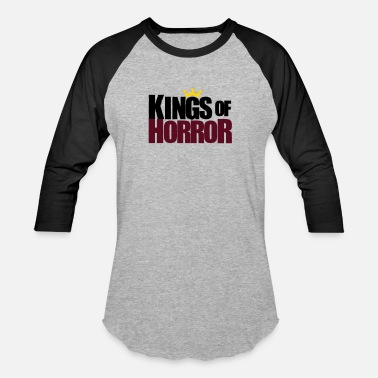 Horror Symbols Kings of Horror Logo - Unisex Baseball T-Shirt