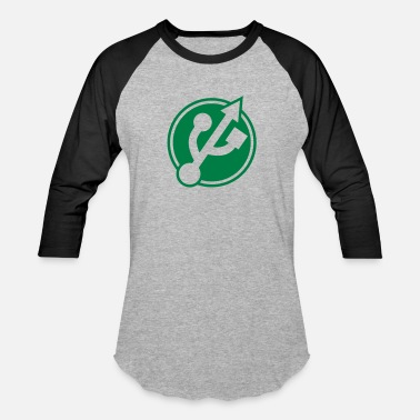 Usb Port button usb port - Baseball T-Shirt