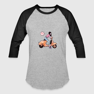 Bike girl - Baseball T-Shirt