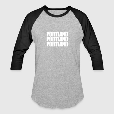Three Words Portland three words - Baseball T-Shirt