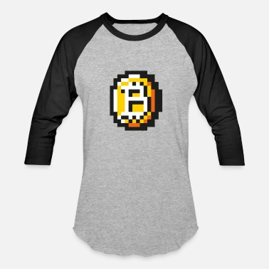 8 Bit Animal 8 bit Coin - Baseball T-Shirt