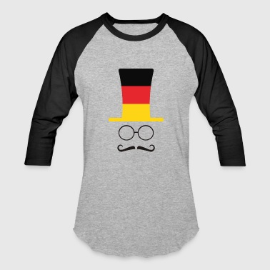 Flags Hipster German Flag Football hipster fan - Baseball T-Shirt