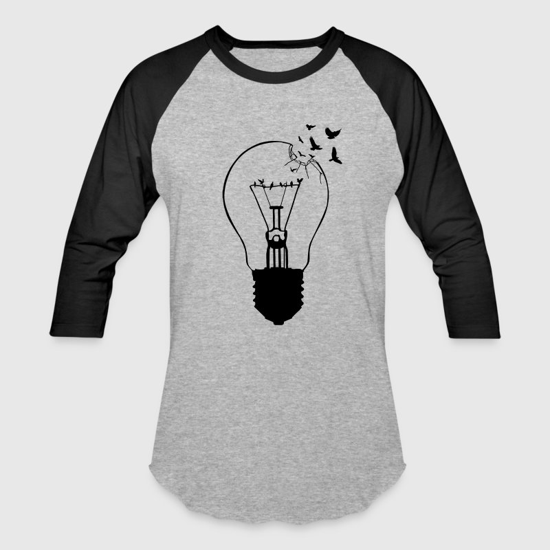 Outlaw, breaking out of the old light bulb - Baseball T-Shirt
