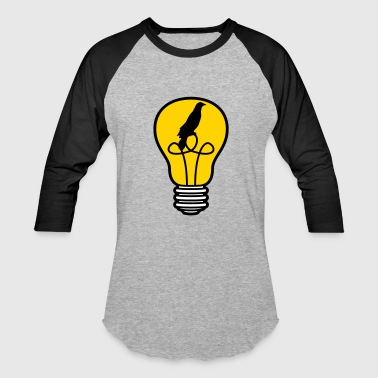bird cage caught bird bulb light stream idea smart - Baseball T-Shirt