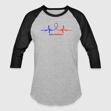 Congenital Heart Disease Congenital Heart Disease CHD Awareness Heartbeat - Baseball T-Shirt