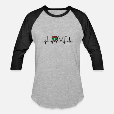 Maldives home roots heart love heimat Malediven - Baseball T-Shirt