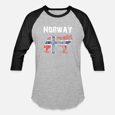 Norway Nation-Design Norway Wolf cBlQa - Baseball T-Shirt