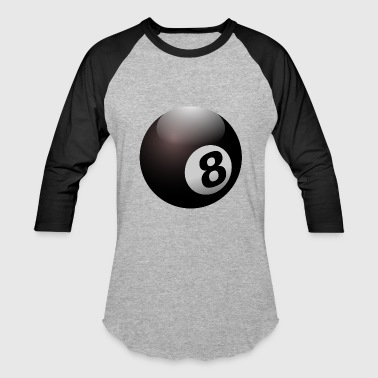 8 Ball billiard - Baseball T-Shirt