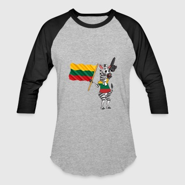 A Lithuanian Zebra - Baseball T-Shirt