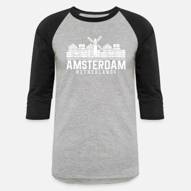 1ce26f18e20802 Amsterdam Windmill Amsterdam windmill - Unisex Baseball T-Shirt